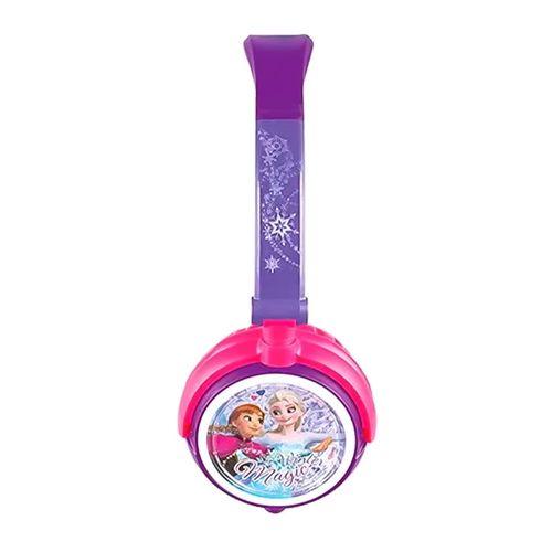 Audífono on ear sin micrófono Frozen almohadillas acolchadas, conector 3.5 mm, morado