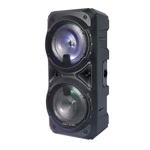 Parlante de torre bluetooth Decibel 80W luces led + trípode