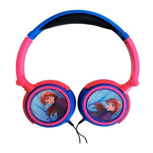 Audífono on ear sin micrófono Frozen Anna almohadillas acolchadas, conector 3.5 mm, rosado