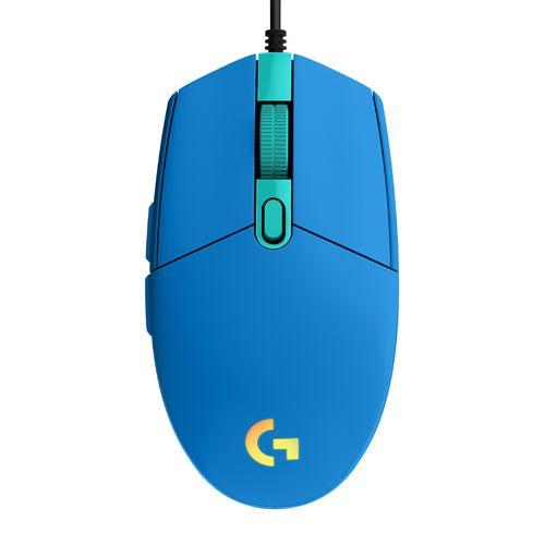 Mouse gaming alámbrico Logitech G203 Lightsync, usb, 8000 dpi, 6 botones, luces RGB, azul