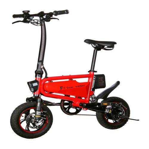 Bicicleta eléctrica Snail Walker autonomía 30-35 km, 350W, vel. 30 km/h, máx. 90 kg, rojo
