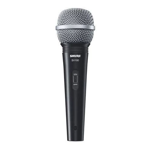 "Micrófono dinámico multiuso Shure SV100 1/4"", 4.6 m"